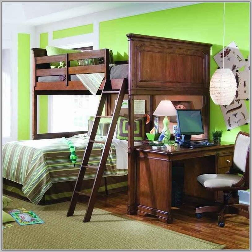 Bunk Bed Desk Combo Wood