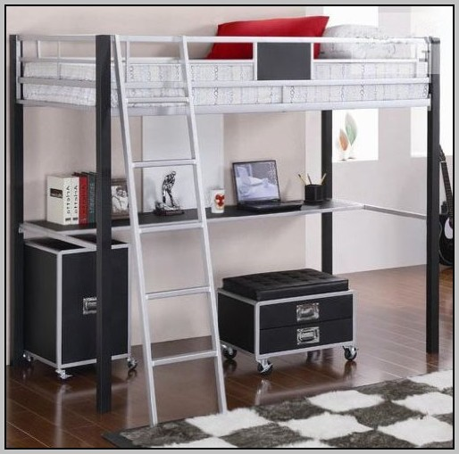 Bunk Bed With Desk Underneath Amazon