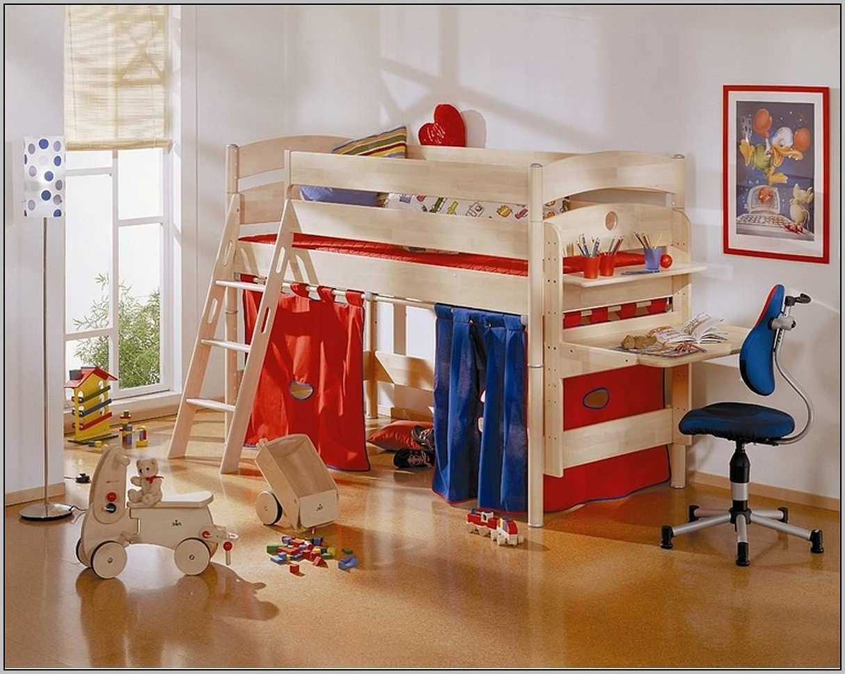 Bunk Bed With Desk Underneath Ideas