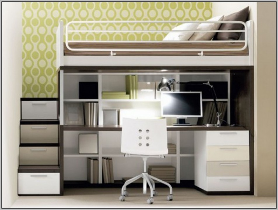 Bunk Beds With Staircase And Desk