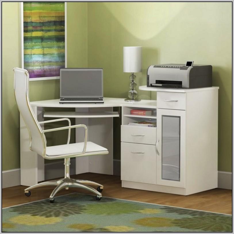 Bush Corner Desk White