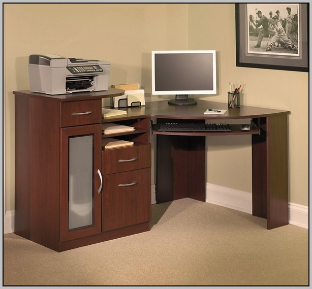 Bush Corner Desk With Hutch