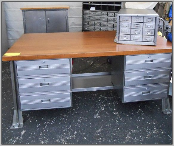 Butcher Block Office Desk