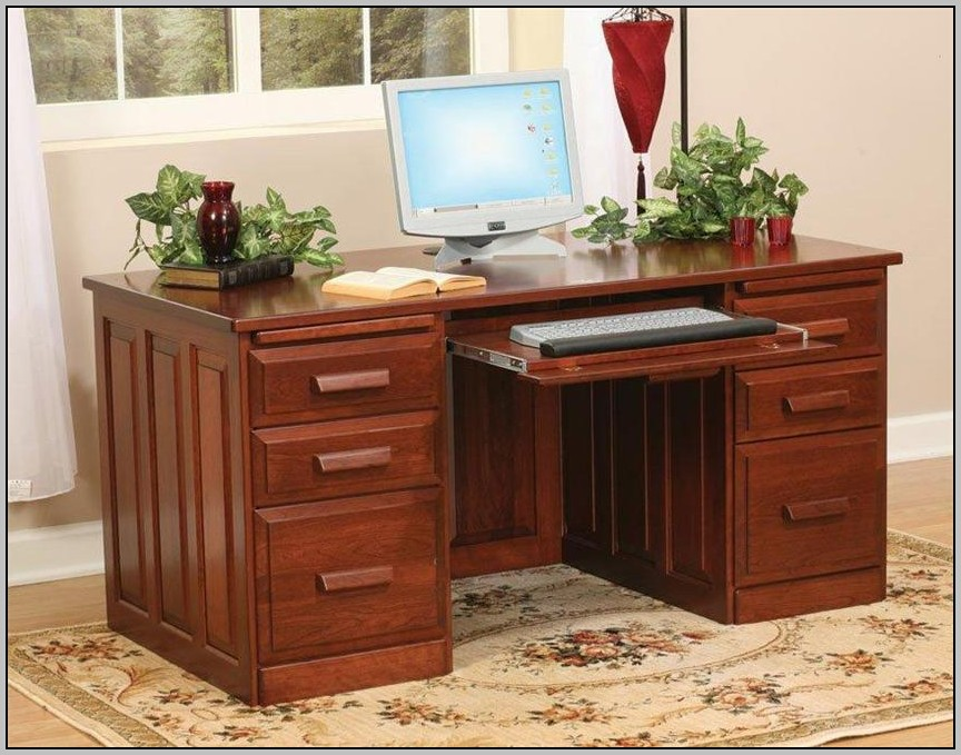 Cherry Wood Computer Desk