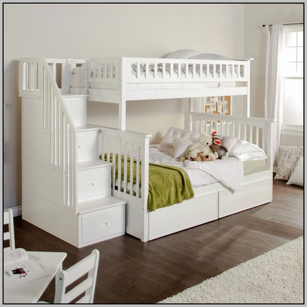 Childrens Bunk Beds With Desk And Futon