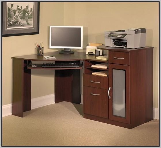 Compact Computer Desk Cabinet
