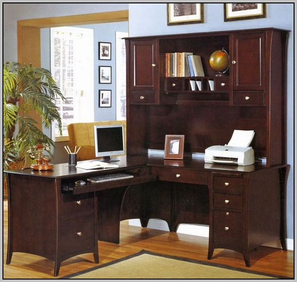 Computer Armoire Desk Hutch Workstation