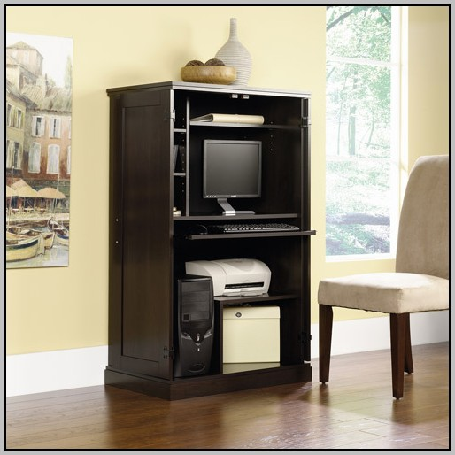 Computer Armoire Desk White