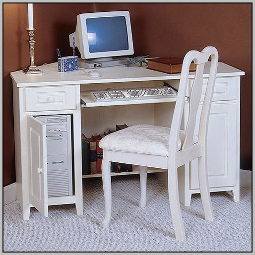 Computer Desk Armoire White