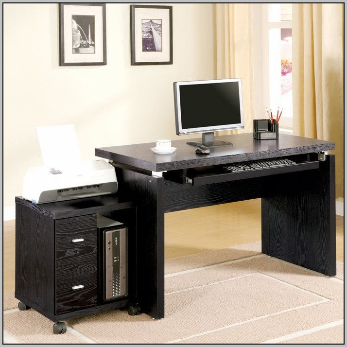 Computer Desk With Adjustable Keyboard Tray
