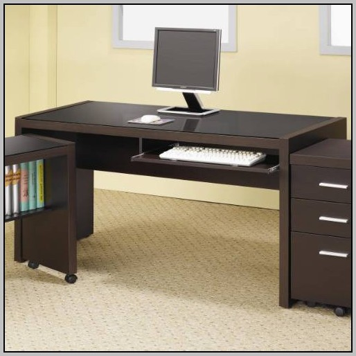 Computer Desk With Keyboard Tray And Drawers