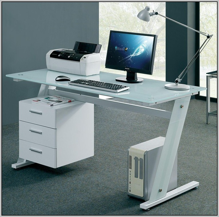 Computer Desk With Storage Above