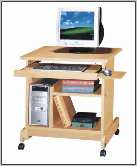Computer Workstation Desk On Wheels