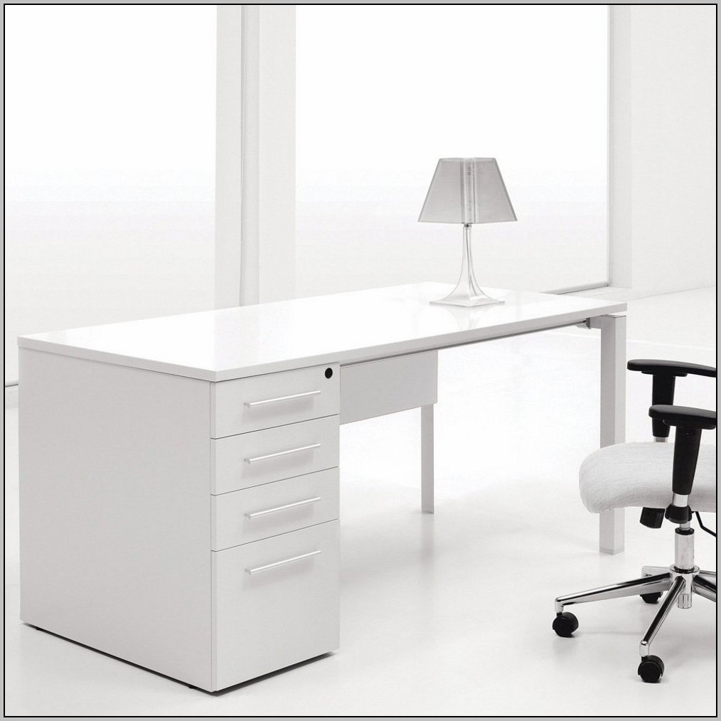 Contemporary Computer Desk White