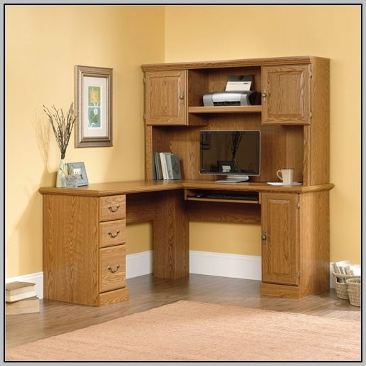Corner Computer Desk With Hutch By Sauder