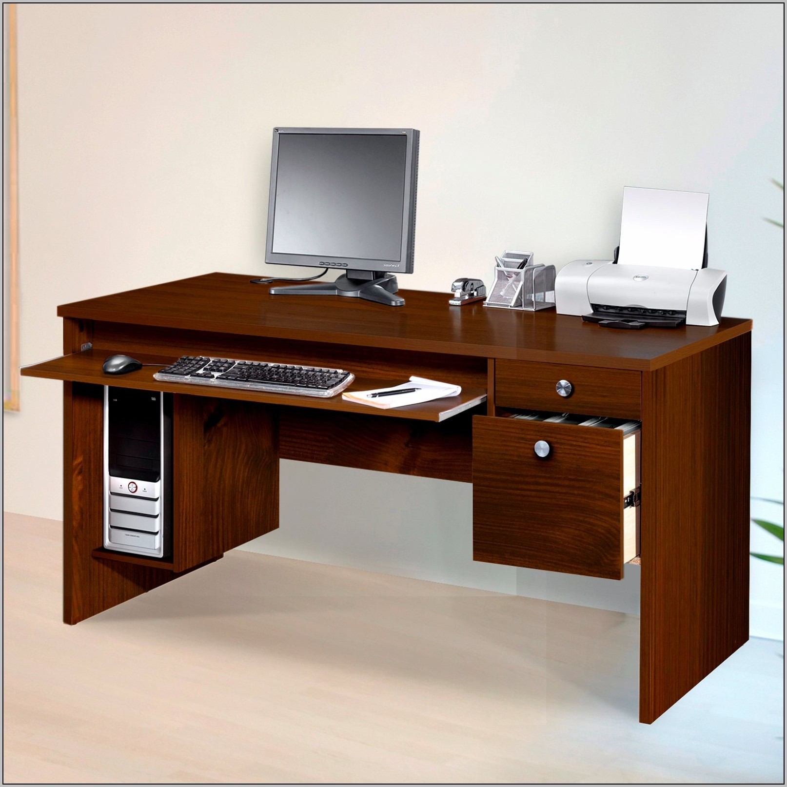 Corner Desk With File Drawers