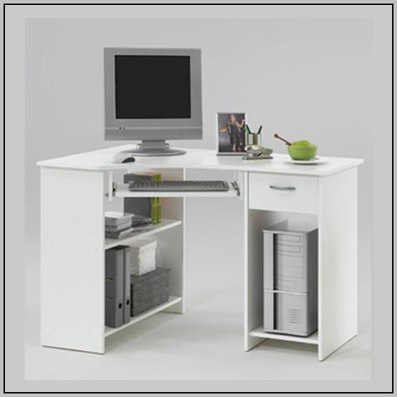 Corner Writing Desk White