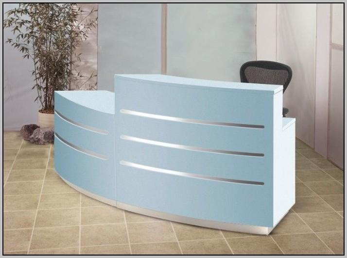 Curved Reception Desk Cad Block