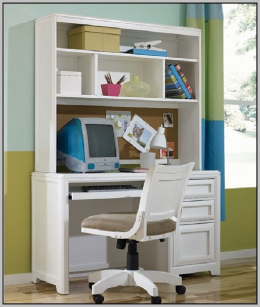 Desk And Hutch White