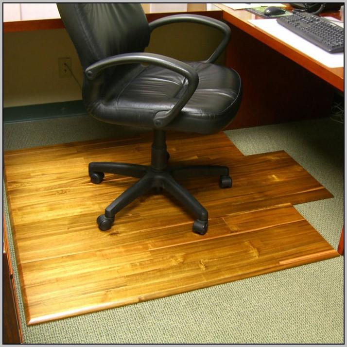 Desk Chair Mat Wood