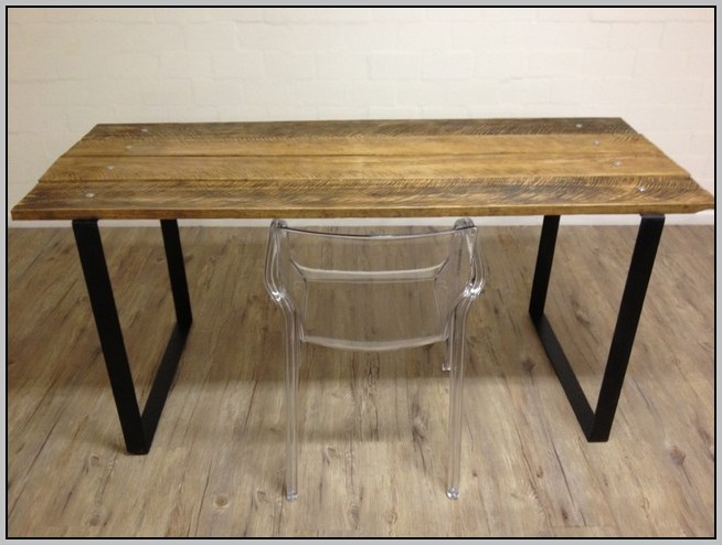 Desk Metal Legs Wood Top