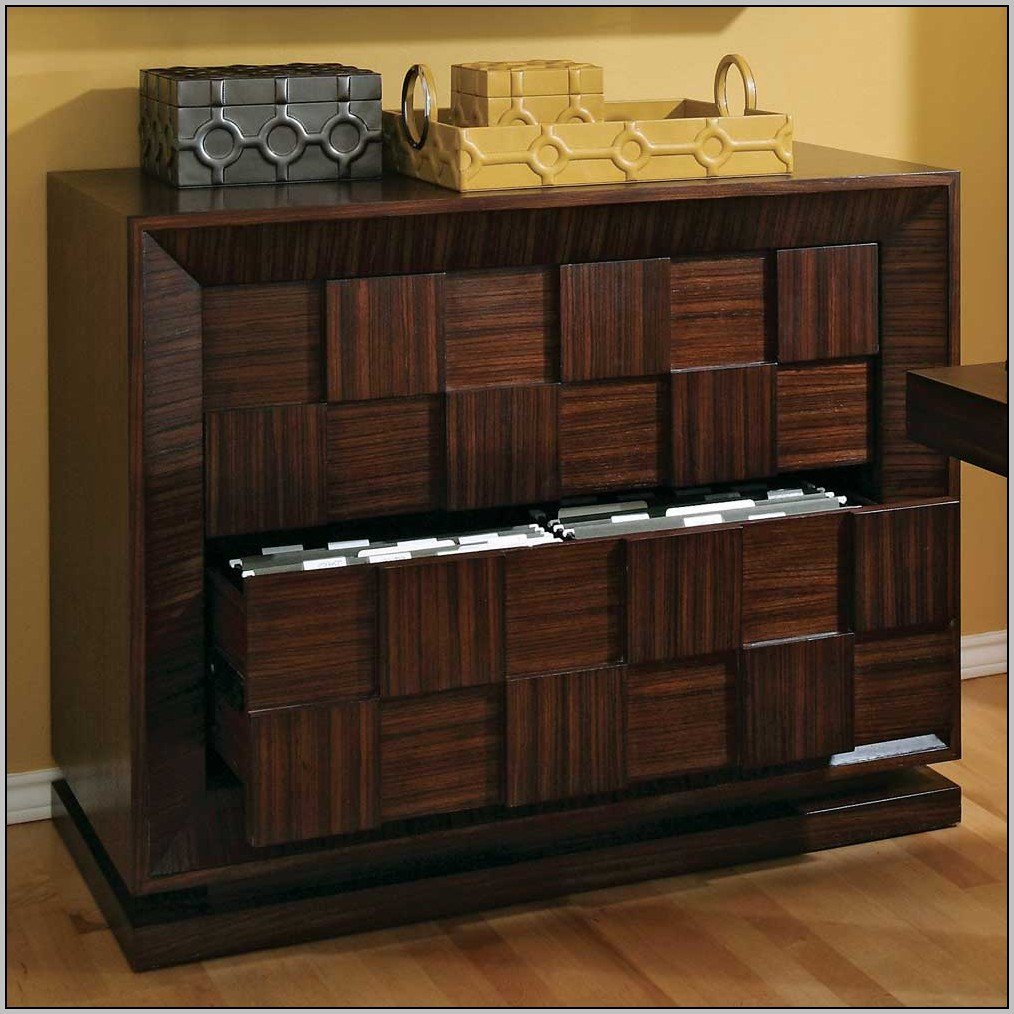 Desk With Locking File Cabinet