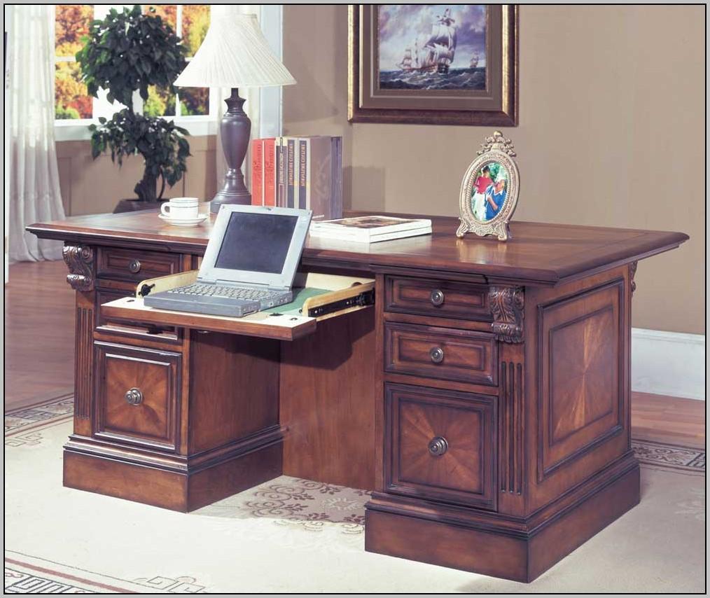 Double Pedestal Desk Staples