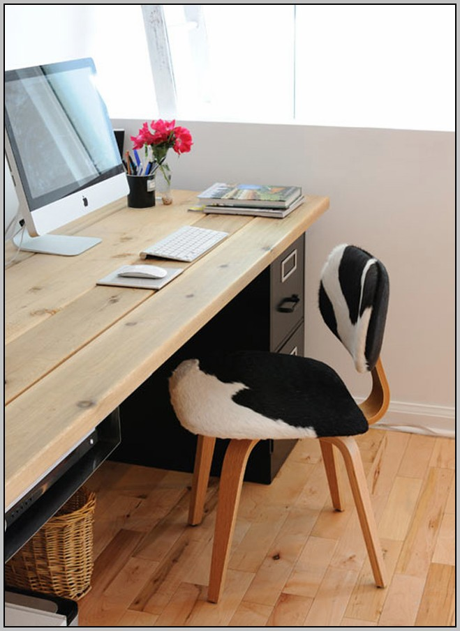 File Cabinet Desk Plans