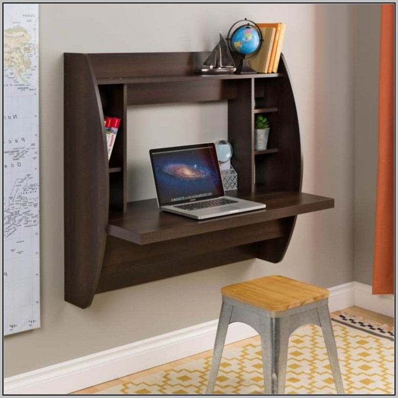 Floating Computer Desk With Storage