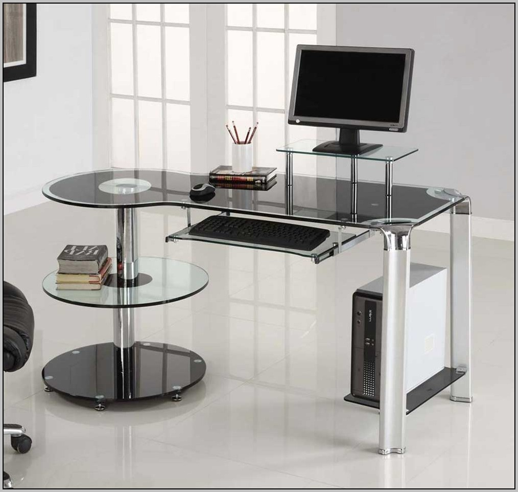 Glass Corner Desk Office Max