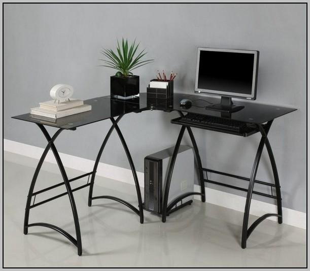 Glass L Shaped Desk Office Depot