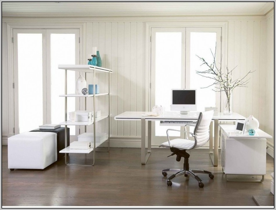 Glass L Shaped Desk With Drawers