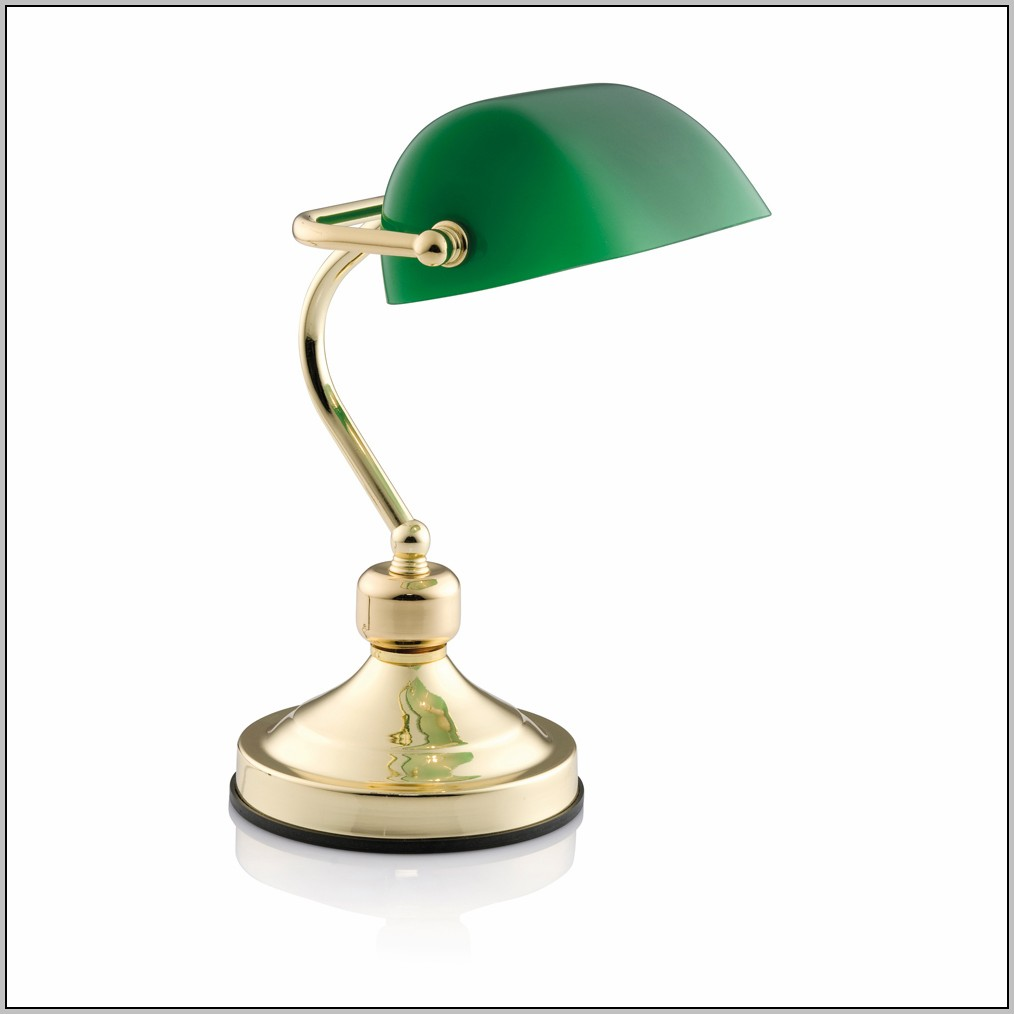 Green And Gold Desk Lamp
