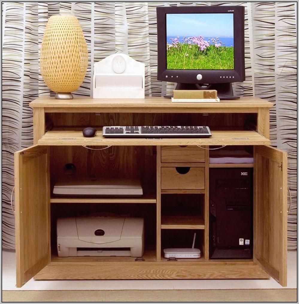Hidden Computer Desk Furniture
