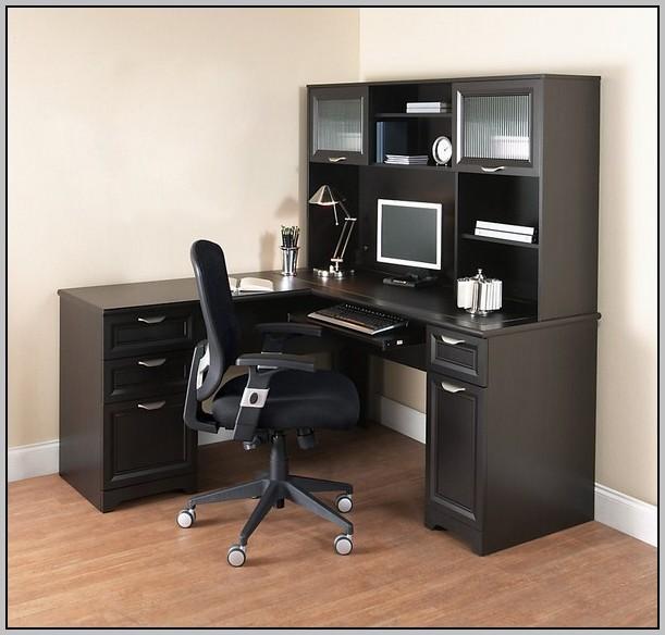 L Shaped Black Corner Desk