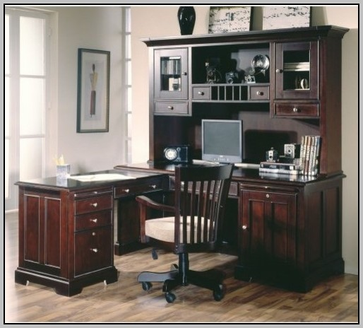 L Shaped Desk With Hutch Home Office