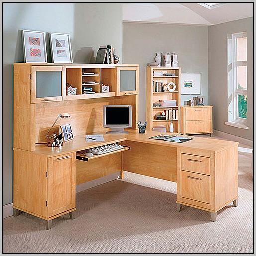 L Shaped Desk With Hutch Walmart