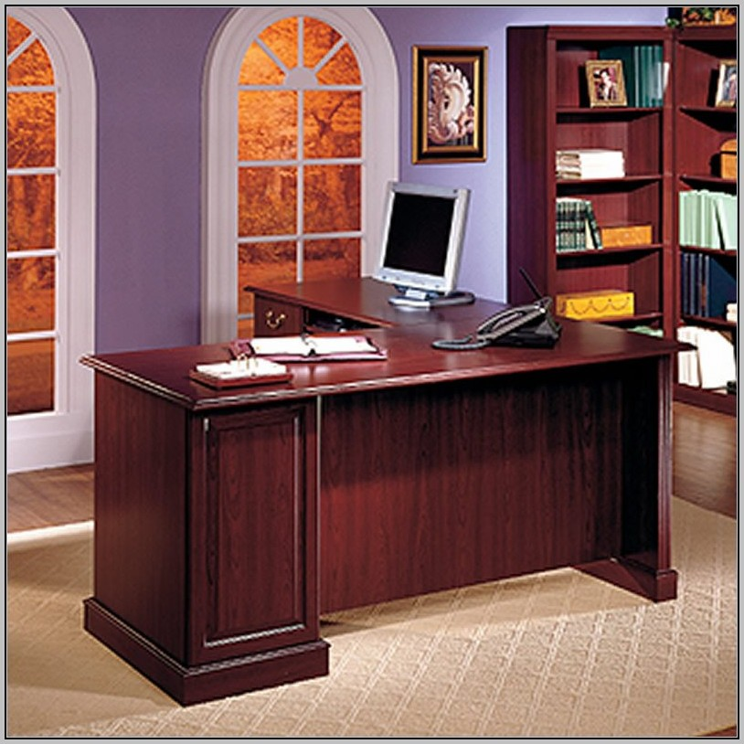 L Shaped Executive Desk Cherry