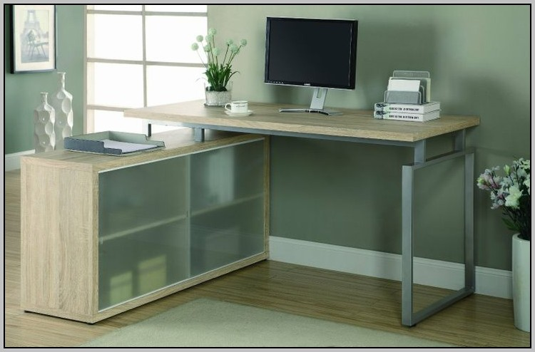 L Shaped Glass Desk Amazon