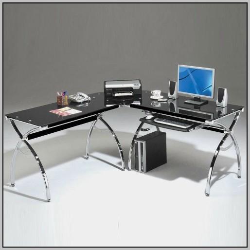 L Shaped Glass Desk Office Depot