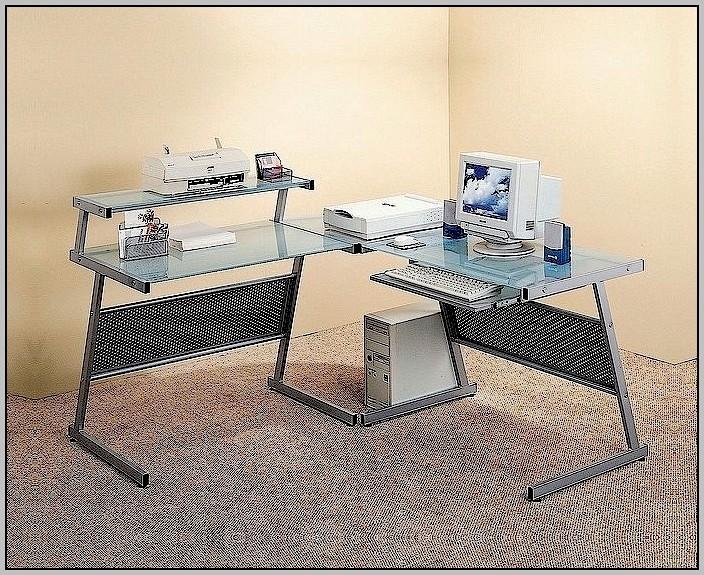 L Shaped Glass Desk Target