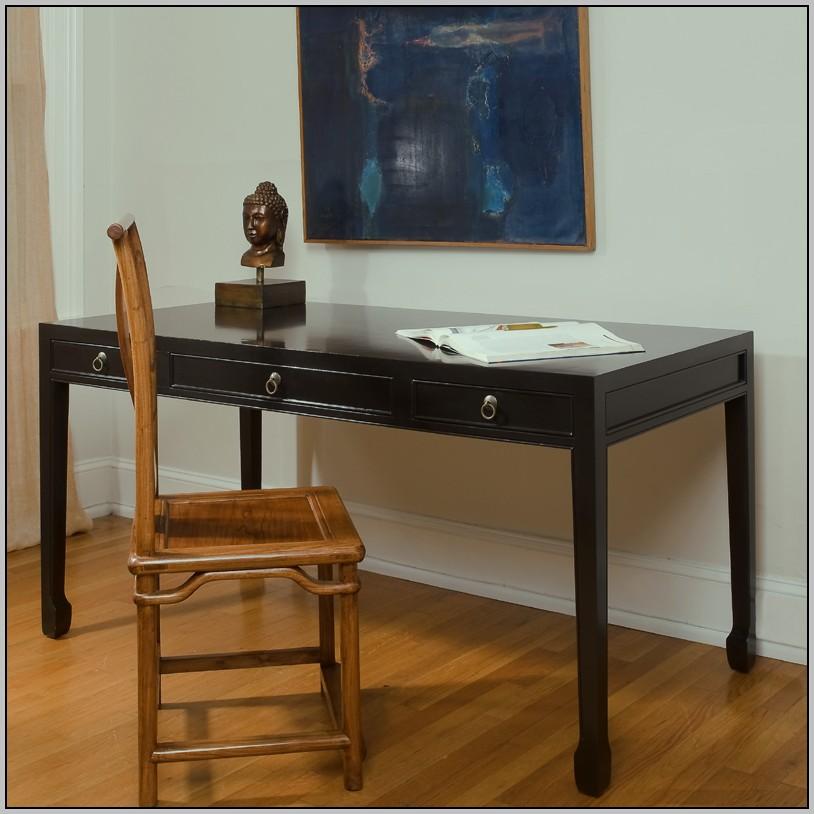 Large Black Writing Desk
