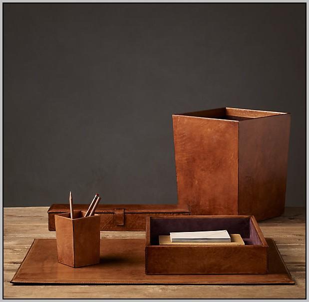 Leather Desk Blotter Sets