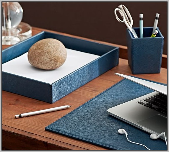 Leather Desk Blotters And Accessories