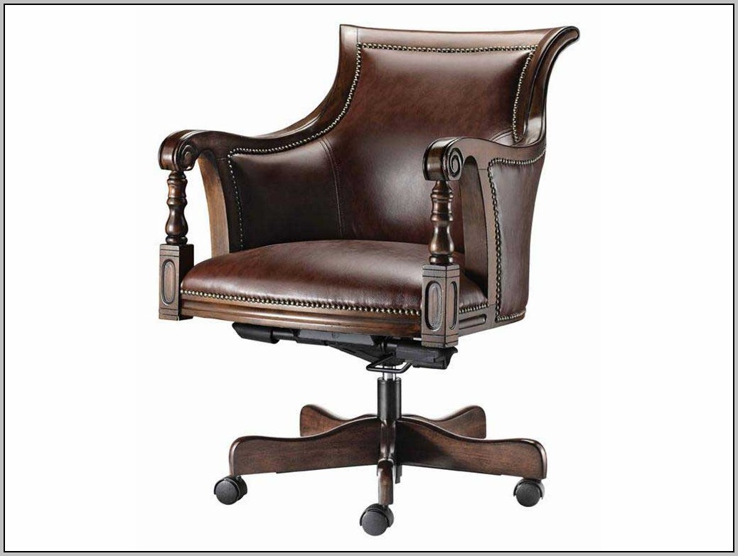 Leather Desk Chairs Without Arms