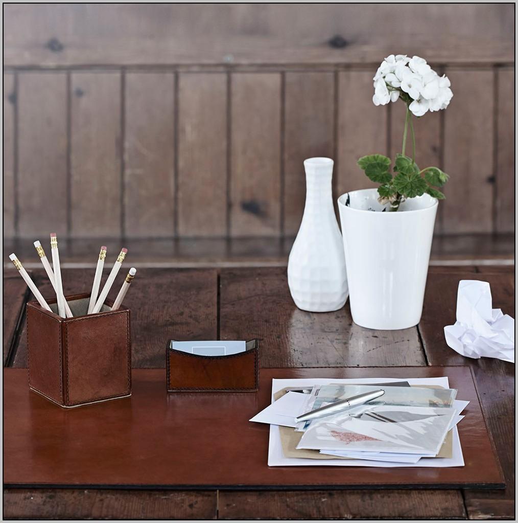 Leather Desk Set Uk