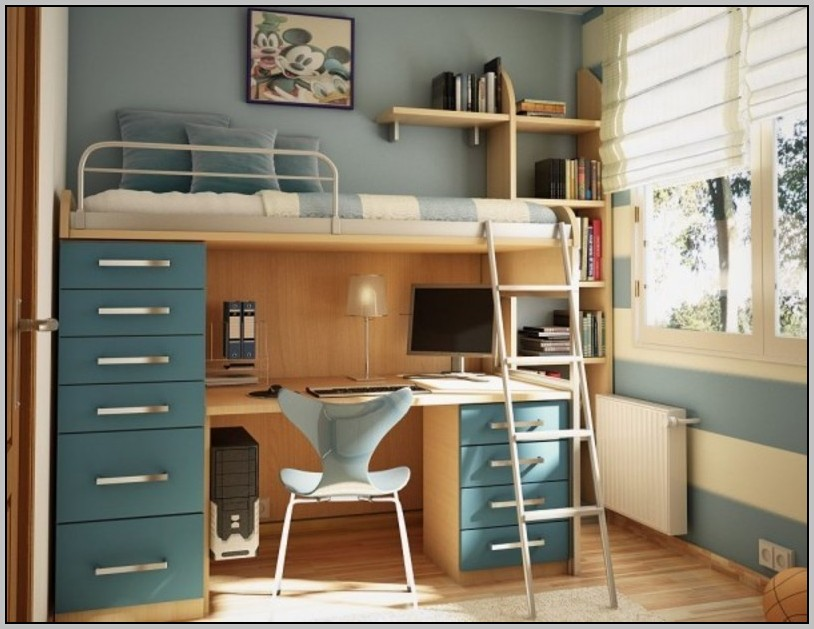 Loft Bed With Desk And Storage Stairs