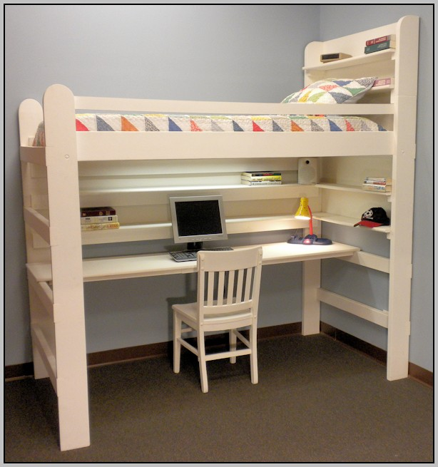Loft Bunk Bed With Desk Plans
