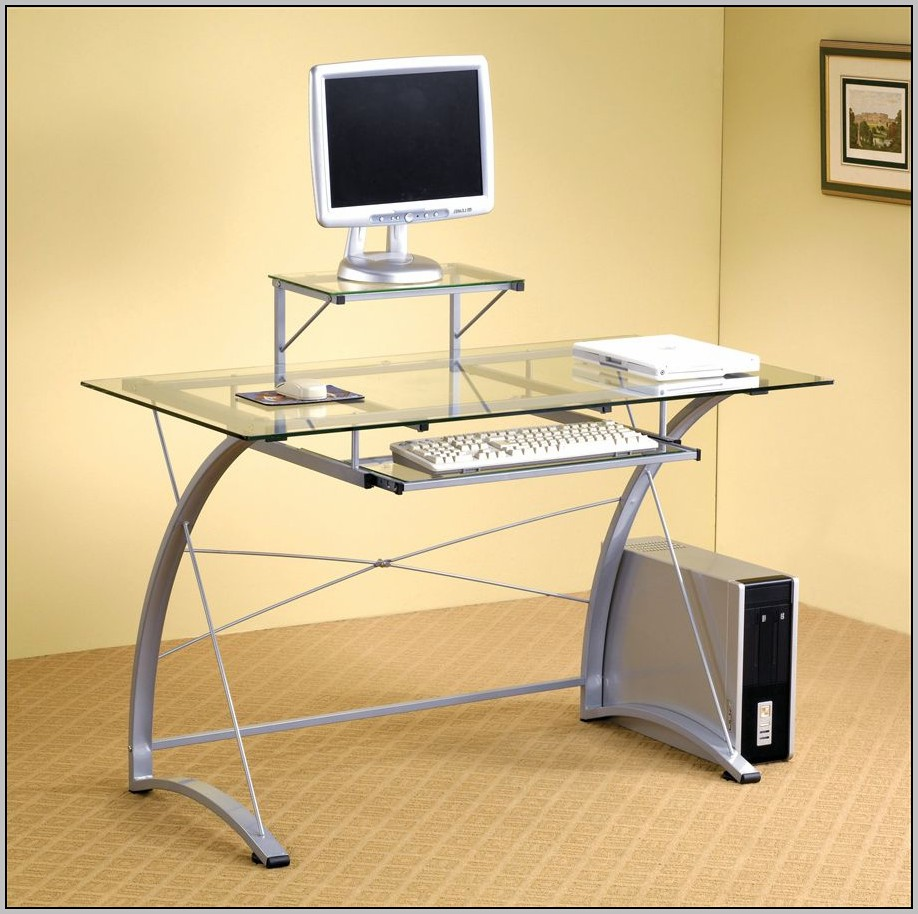 Metal Computer Desk With Drawers