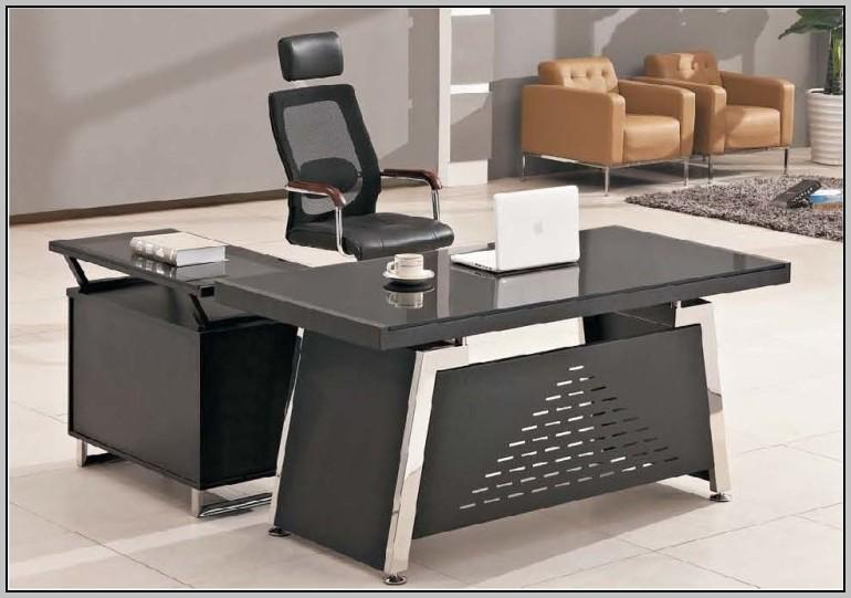 Modern Executive Desk Glass